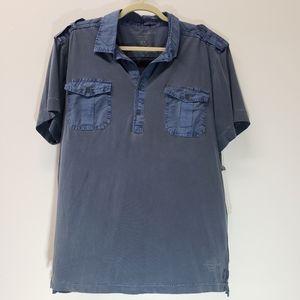 Calvin Klein Jeans Faded Button Cotton Shirt SZ XL